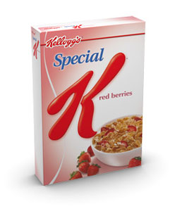 box of kellogg's cereal
