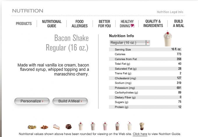 Bilderesultat for milkshake mcdonalds calories big size