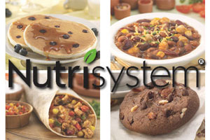 nutrisystem with food in background