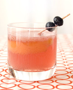 old fashioned with blueberries