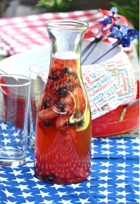 A Simple Red, White and Blue Sangria Recipe Diets in Review Blog