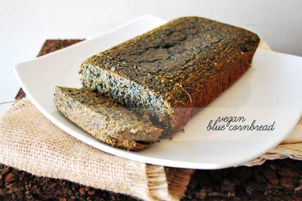 Vegan Blue Cornbread 1