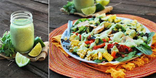 big southwestern salad and dressing