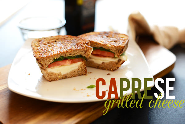 Caprese grilled cheese sandwich 2