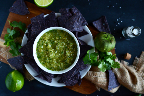 Roasted Tomatillo Pineapple Salsa