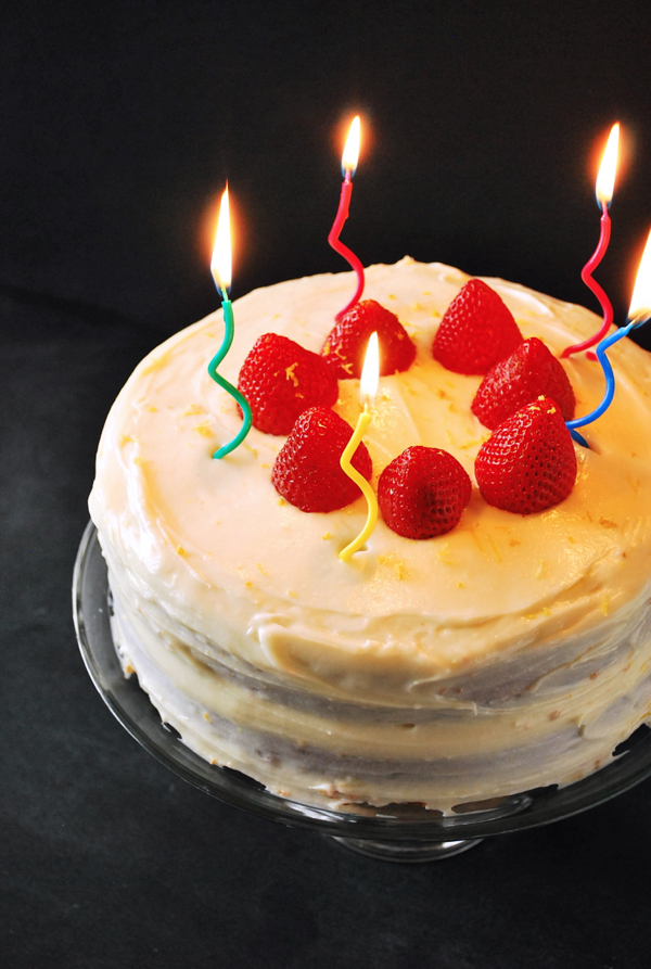 Strawberry Lemonade Birthday Cake