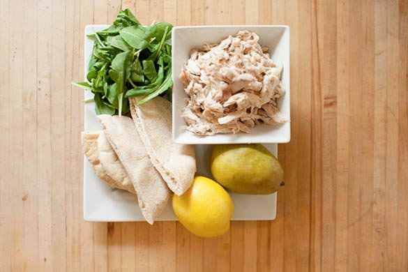 chicken pear pita