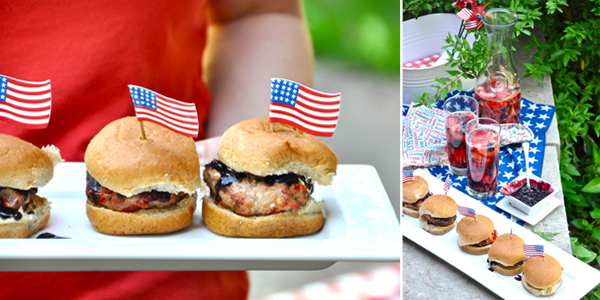 july 4th burgers and sangria
