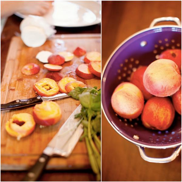 peach caprese prep