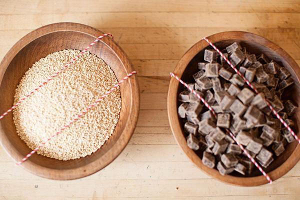 quinoa and dark chocolate