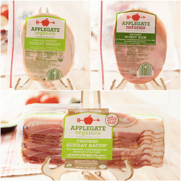 applegate ham, turkey, bacon