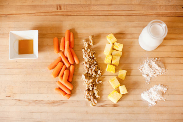 carrot cake pancake ingredients