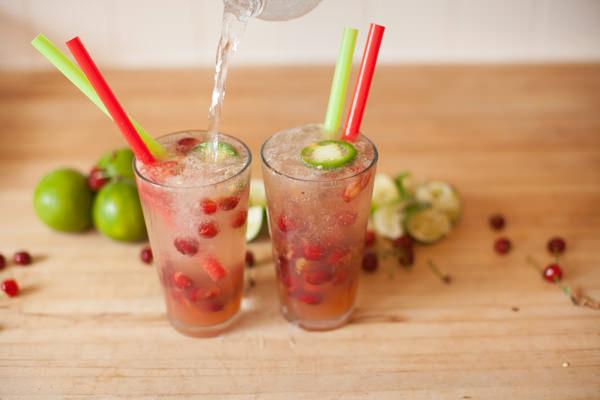 fizzy cherry limeades