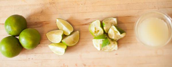 limes juiced
