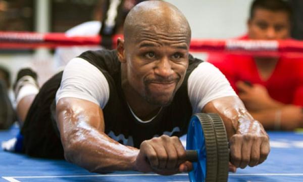 Floyd Mayweather Jr training