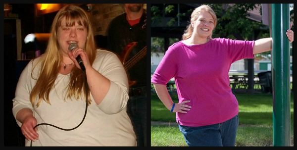 K Raske Before and After weight loss