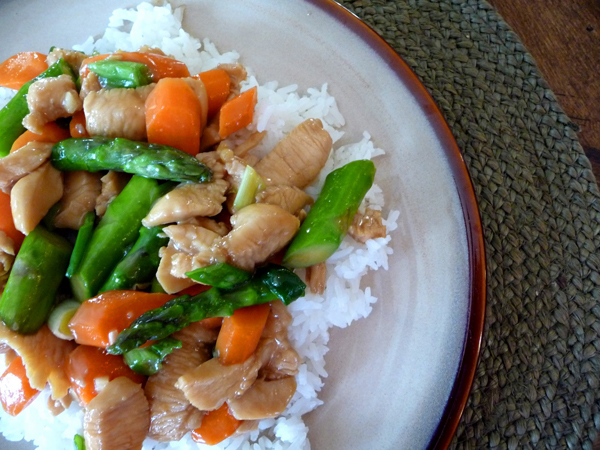 chicken asparagus stirfry