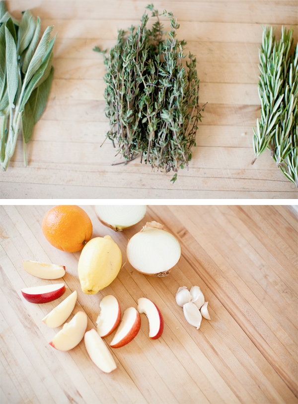 herbs and citrus