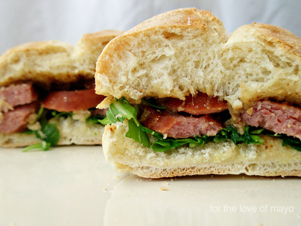 kielbasa sandwich love of mayo