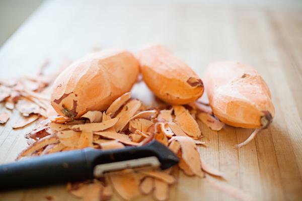 sweet potatoes peeled