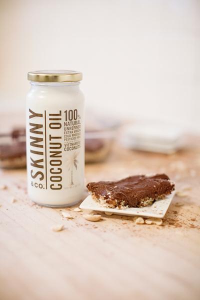 skinny coconut oil fudge bars
