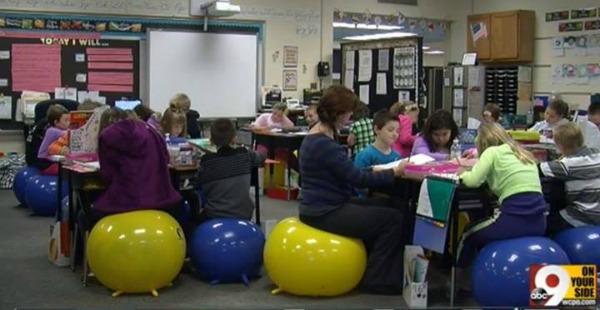 stability ball classroom