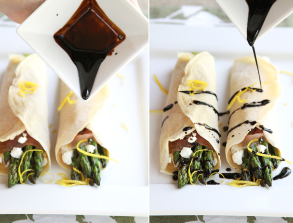 balsamic asparagus crepes