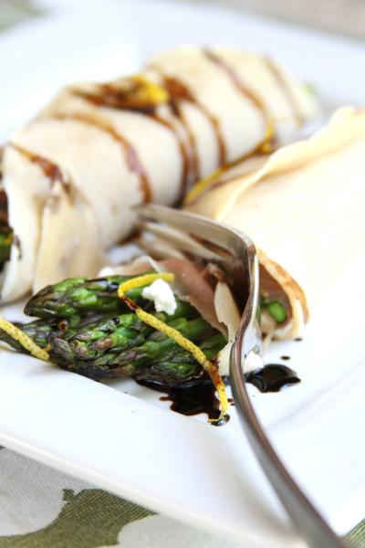 bite asparagus crepe