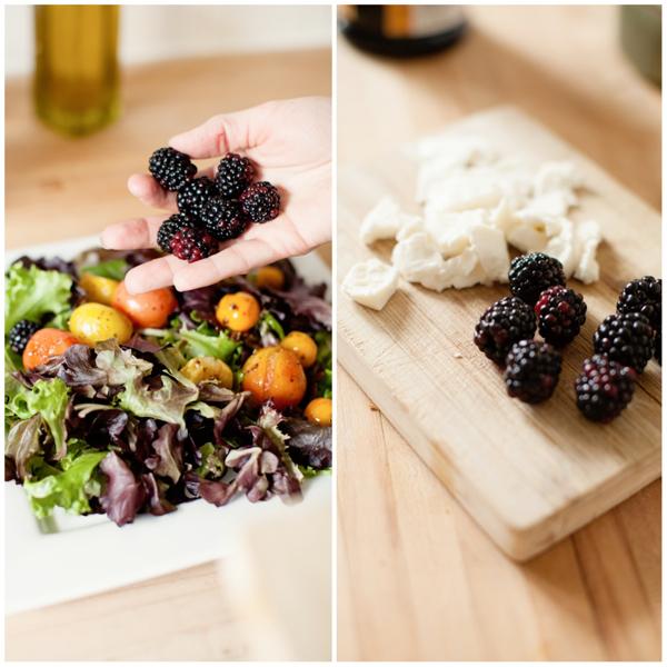 blackberries mozzarella
