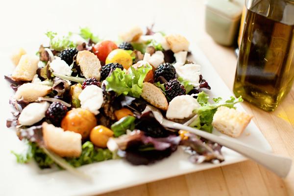roasted caprese salad