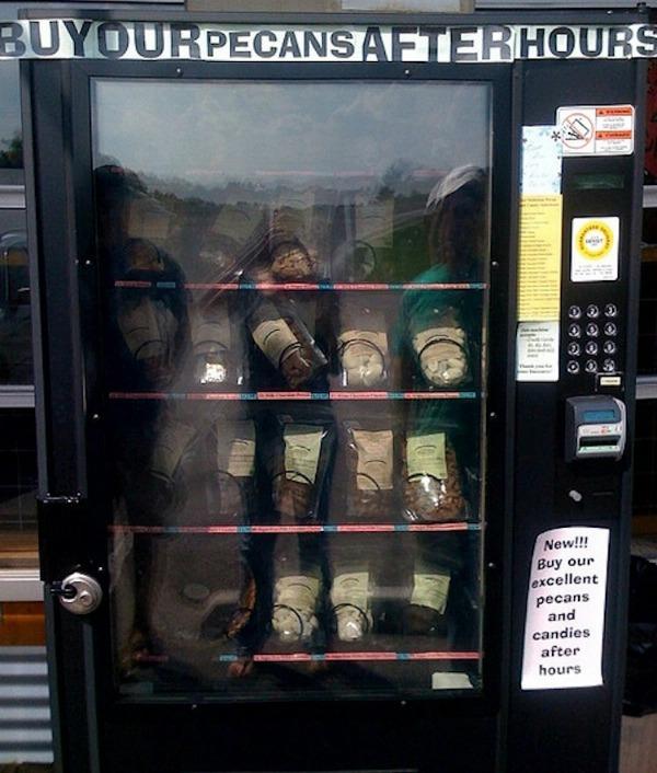 Pecan vending machine
