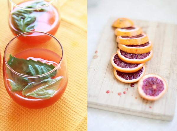 blood oranges mimosa