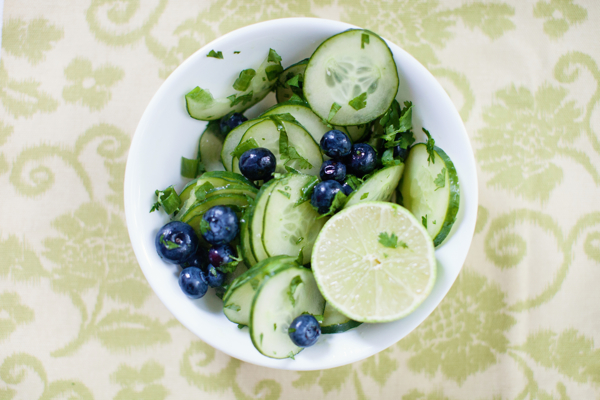 blueberry cucumber salad