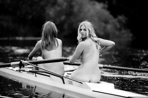naked girls row