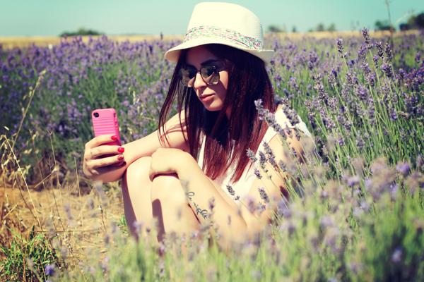 selfie lavender