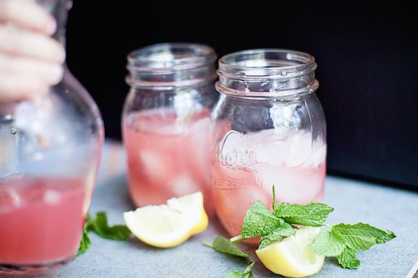 rhubarb iced tea pitcher