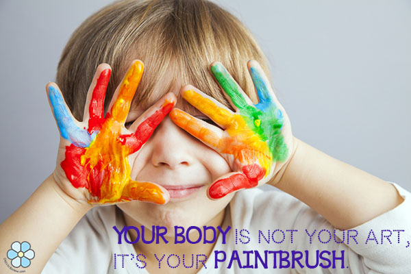 Body paintbrush quote