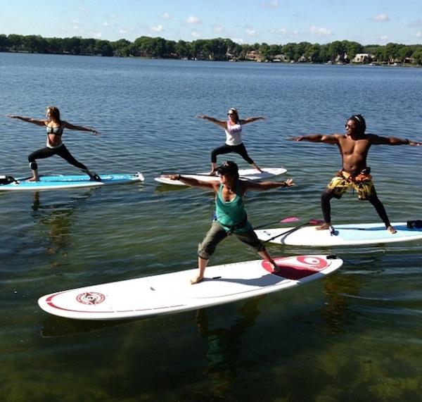 SUP yoga group