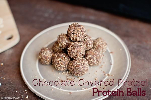 chocolate pretzel protein balls