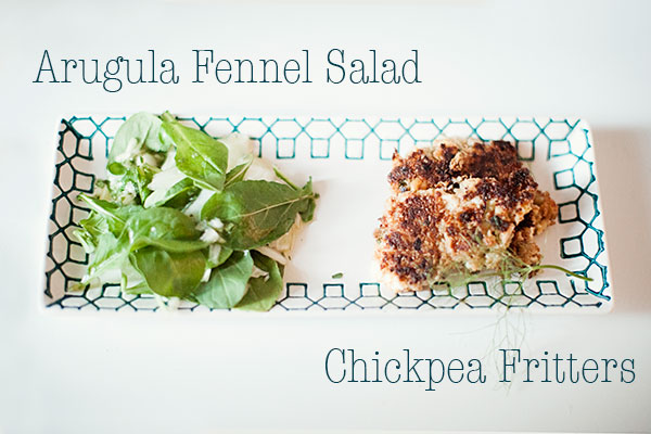 chickpea-fritters-and-arugula