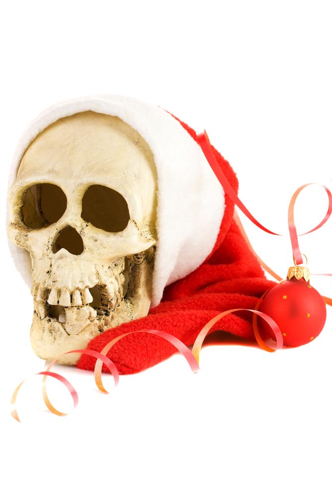 10 santa skull