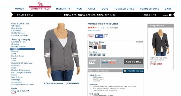 Old Navy Plus Size Cardigan