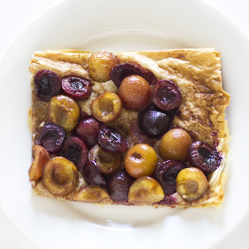 cherry tart square