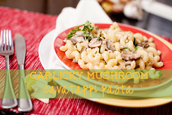 mushroom cavatappi pasta recipe