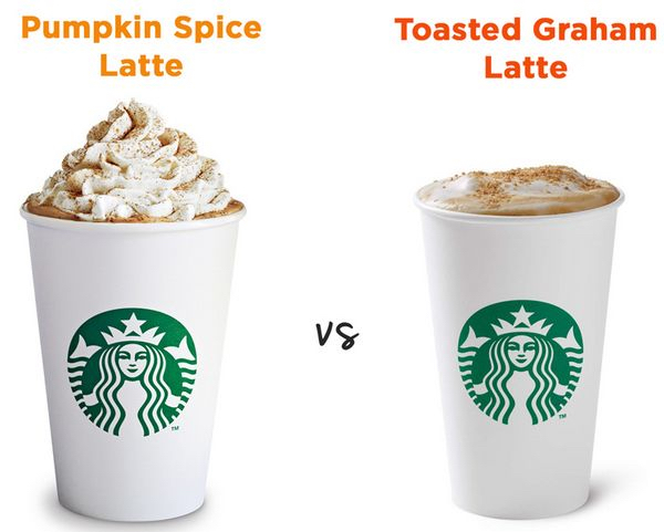 Pumpkin Spice vs Toasted Graham Latte