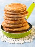 Oatmeal Pancakes and Bananas Photo