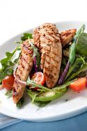 Grilled Chicken Salad With Baby Spinach and Creamy Mustard Dressing Photo