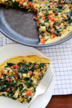 Jillian Michaels' Frittata with Spinach, Potatoes, Peppers, and Feta  Photo
