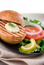 Salmon Burger Photo
