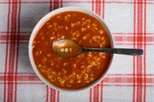 Tomato Basil Alphabet Soup Photo